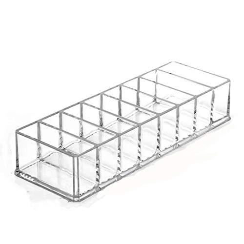 Klerokoh 8 große erröten Rahmen transparent acryl Gitter Box kosmetische Display Rahmen Lidschatten Pulver Lippenstift aufbewahrungsbox (Color : Clear)