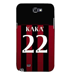 PRINTVISA Football Kaka Brazil Case Cover for Samsung Galaxy Note 2 N7100