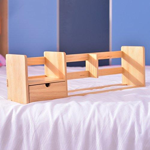 Librería estantería 60 (L) * 13,5 (W) * 17,5 (H) Cm Rack de almacenamiento de madera sólida