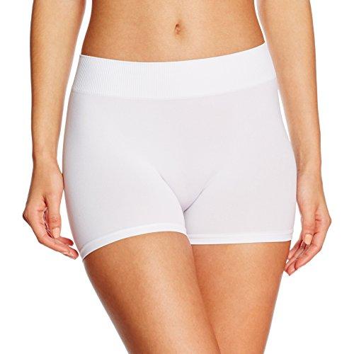 PIECES Damen PCLONDON Mini Shorts NOOS Panties, Weiß (Bright White), 36 (Herstellergröße: S/M) - Enge Legging