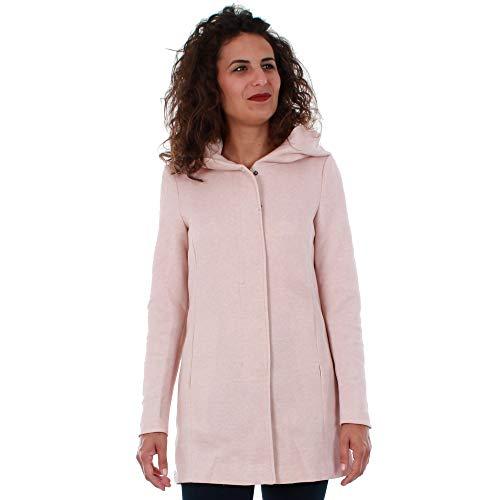 VERO MODA Damen Mantel VMVERODONA LS Jacket NOOS, Beige (Mocha Mousse Detail:Melange), 36 (Herstellergröße:S)