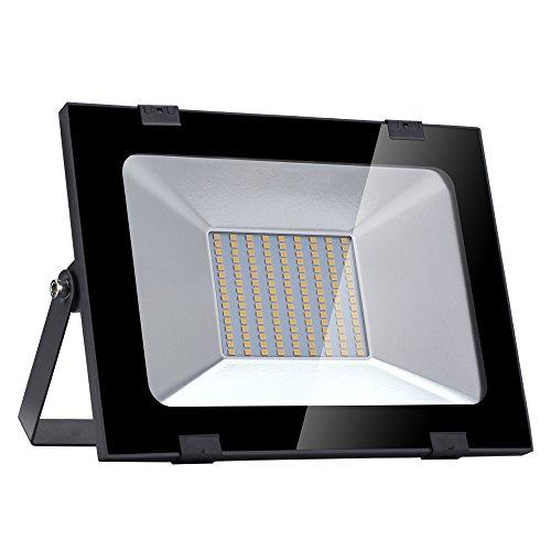 Yuanline Focos LED Exterior de Blanco Cálido 100W 10000LM, 2800-3200k, Ultrafino y...