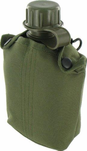 Highlander Patrol Olive Pro-Force Plastic Water Bottle Robuste Feldflasche Trinkflasche, grün, One Size