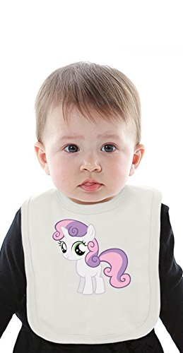 Sweetie Belle my little pony Organic Baby Bib With Ties Medium