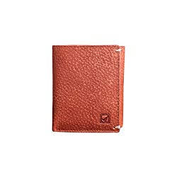 Style98 Tri Fold Pure Leather Unisex Slim Wallet (Tan)