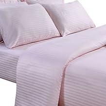 Homescapes Funda de almohada Confort con rayas de satén estilo-Housewife-50 x 75 cm de color Rosa en 100% algodon egipcio densidad de 130 hilos/cm²