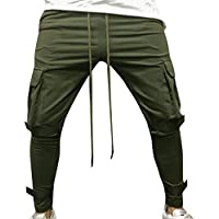 Geili Herren Sweatpants Jogginghose Cargo Biker Hose Große Größen Einfarbige Kordelzug Fitness Trainingshose Sporthose... preisvergleich bei billige-tabletten.eu