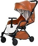 TZZ Kinderwagen Travel System Kinderwagen mit Shock-Compact-Kinderwagen mit sicherem 5-Punkt-Gurt for Neugeborene und Kleinkind (Farbe : Orange)