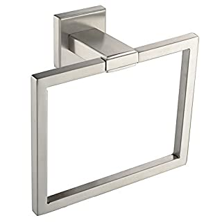 Angle Simple GB8210 Bathroom Towel Ring Towel Holder, Brushed Steel
