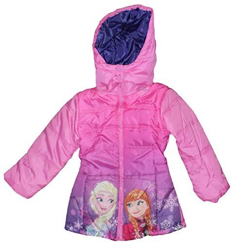 Giacca a vento piumino invernale con cappuccio frozen ps 08877-4 anni-rosa