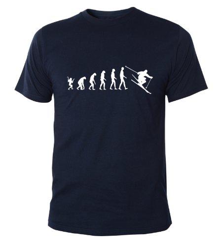 Mister Merchandise Cooles Herren T-Shirt Ski Evolution Ski Fahren Skiing , Größe: M, Farbe: Navy (Star Wars-jugend-t-shirt)