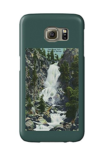 Steamboat Springs, Colorado - View of Fish Creek Falls - Vintage Halftone (Galaxy S6 Cell Phone Case, Slim Barely There) -