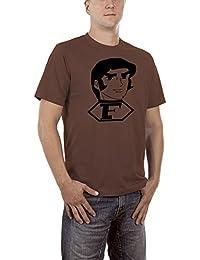 Touchlines Herren T-Shirt Captain Future Bild Braun (Brown 19), XXXXX-Large