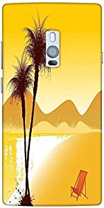 Snoogg Summer Background Designer Protective Back Case Cover For One Plus Two