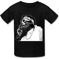 Big Boys'/Girls' Wiz Khalifa T-Shirt - BlackYILIAX10206XXXX-L
