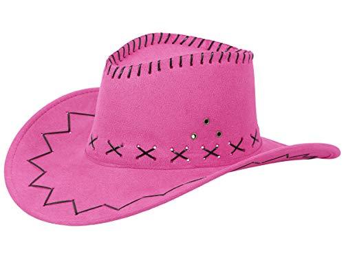 Alsino Cowboyhut Westernhut in One Size Größe aus Polyester, Fuchsia (24) (Rosa Cowgirl Kostüm Für Erwachsene)