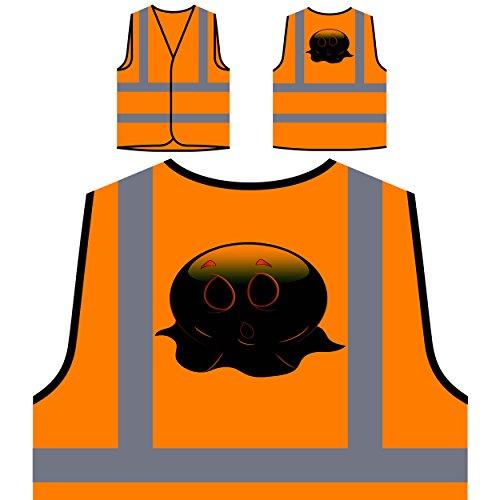 Halloween-Gesichts-Neuheit-lustige Vintage Kunst Personalisierte High Visibility Orange Sicherheitsjacke Weste a298vo ()