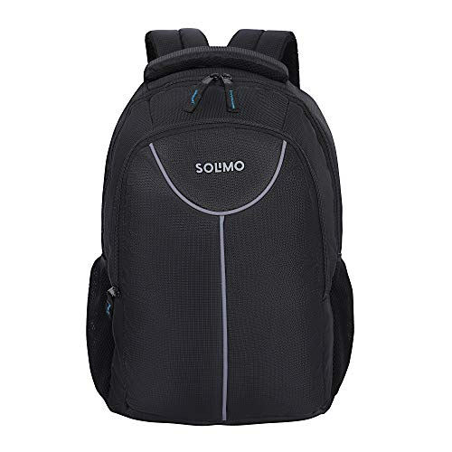 Amazon Brand - Solimo Laptop Backpack for 15.6-inch Laptops (27 litres, Black)