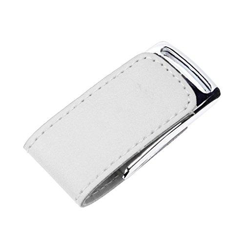 Kingko® USB 2.0 magnetischen Clash Business PU-Leder-Flash-Laufwerk Memory Stick U-Disk Weiß