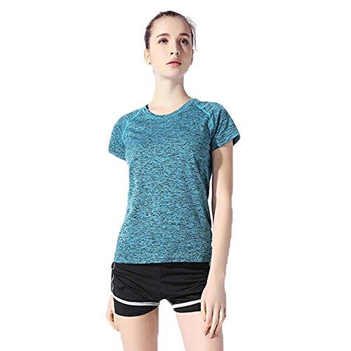 Libella - Sport Shirt / Chemise pour Femme sport moucheté 1502 Bleu