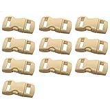 Excellent112 Kurzwaren-Schnalle – Mehrzweckschnalle, solide, flexibel, Seitliche Entriegelung, für Haustiere, konturiert, 10 Stück, Khaki, Free Size
