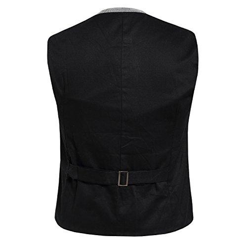 sulandy @conçu pour homme Coupe Skinny Slim robe et gilet Noir - Noir