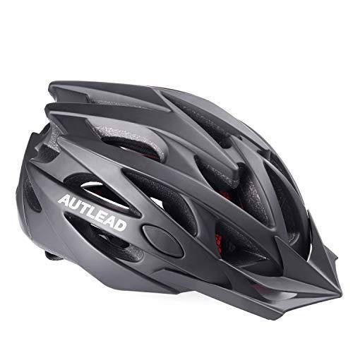 AUTLEAD Casque Vélo de Protection Taille Réglable(58-61cm) Ultraléger avec Visière Amovible pour...