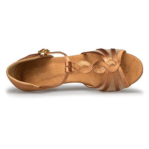 Minitoo , Danse de Salon femme Brown-7.5cm Heel