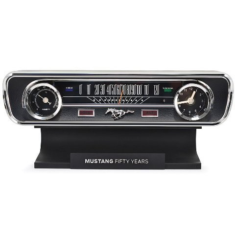 Ford Mustang Sound Clock Thermometer by Mark Feldstein