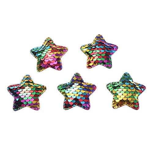 Healifty 25pcs Lentejuelas Estrellas Parches Ropa