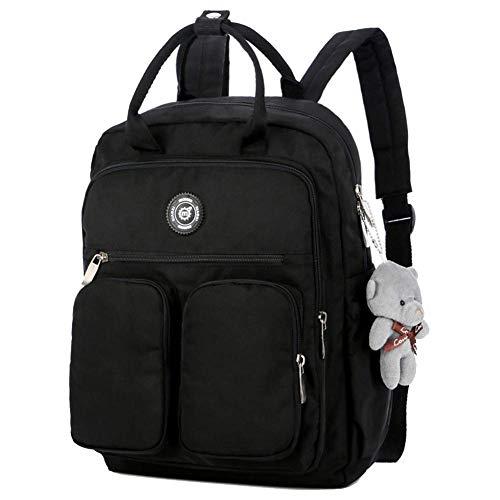 Zenguen Fashion Women Backpack,Girls Rucksack Waterproof School Bags Anti-Theft Dayback Shoulder Bags_Black -