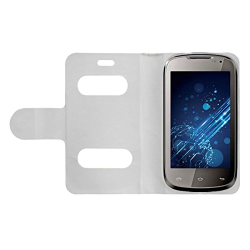 Acm Caller Id Case For Lava Xolo A500 Mobile Table Talk Flip Cover Stand - White  available at amazon for Rs.389
