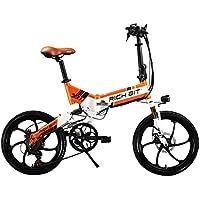RICH BIT® RT 730 Electric Bike eBike Klapprad 250W 48V 8Ah Akku Shimano 7 Speed MTB City bike dirt bike scheibenbremsen set fahrrad reifen 20 Zoll