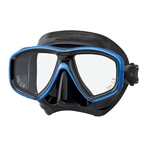 TUSA Tauchmaske M-212 Freedom Ceos - Schwarz Farbe Fishtail Blue