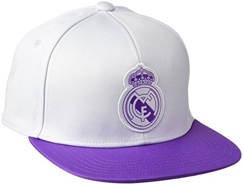 Flat Madrid (Adidas Real flach Gap Gap–Real Madrid FC für Herren, Herren, Real Madrid Flat, Weiß/Violett (Balcri / Vioray), Einheitsgröße)