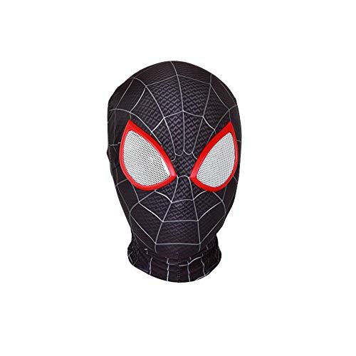 ZUOZHE Erwachsene Kinder Spiderman Kostüm Halloween Karneval Cosplay Party Kopfbedeckung Anzug Superheld Bodysuit Outfit Cosplay Maske,Black