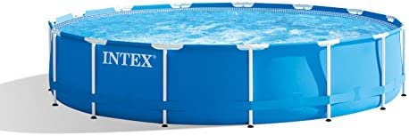 Intex Metal Frame Pool Set 457 x 84cm,  blau