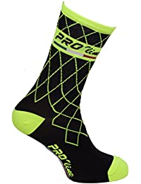 CALCETINES DE CICLISMO PROLINE TEAM AMARILLO FLUO CYCLING SOCKS 1 PAR SIZE NEW LINE ONE