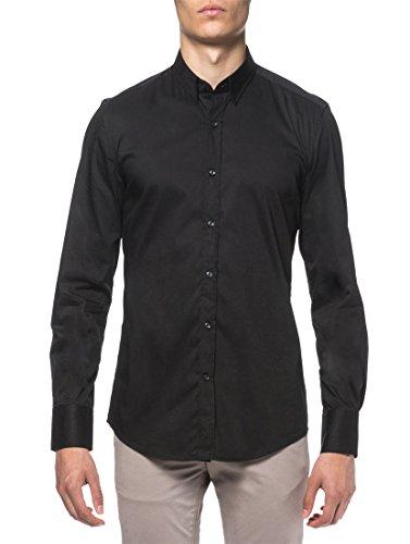 Antony Morato Herren Langarmhemd Business-Hemd Black