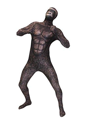 Gorilla Morphsuit grau braun M