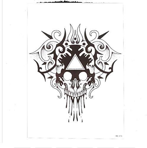 Kostüm Ein Erstellen Pfau - Temporäre Tattoos Männer Blume Arm Tattoo Aufkleber Frauen Männer Körperkunst Pfau Schädel Time Bone Design 3D Temporäre Tätowierung Aufkleber 14,8 * 21 Cm 4 Stücke