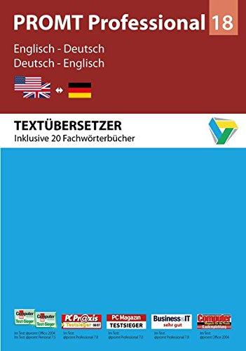 PROMT Professional 18 Englisch-Deutsch: Von Fachmedien ausgezeichnetes Übersetzungsprogramm Englisch-Deutsch für den anspruchsvollen Anwender. Mit ... 7, 8 und 10. (PROMT Übersetzungssoftware)
