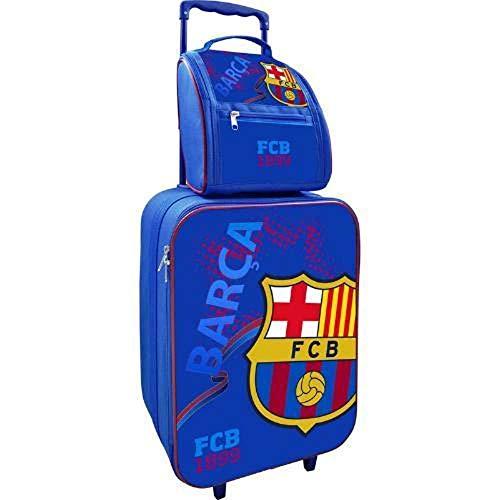 Maleta y Neceser FC Barcelona. Producto Oficial. Tamaño maleta: 46 x 32 x 18 cm. Tamaño neceser: 23 x 22 x 17 cm.