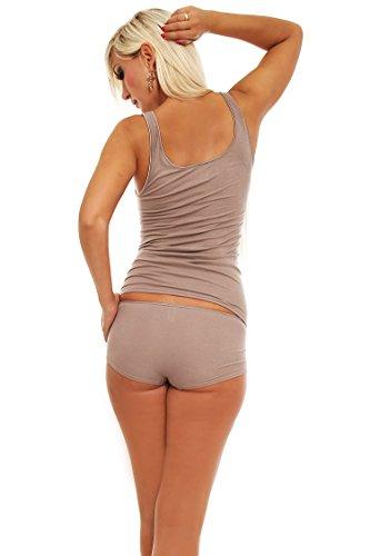 Damen Achsel-Top, Shirt ohne Arm, Micromodal mit Elasthan von Schöller, in der Farbe Taupe, Größen 38-50 Taupe