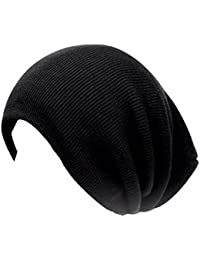 9296df33e61 Black Ribbed Oversized Beanie Hat in Black - one size fits most