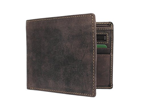 Visconti Cartera SHIELD de Cuero Engrasado 707 Marrón Petróleo RFID