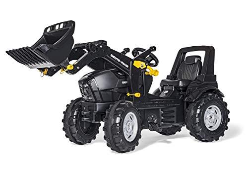 Rolly Toys Deutz Agrotron 7250 TTV WARRIOR Trettraktor + Frontlader (rollyFarmtrac Traktor; Kinder ab 3 - 8 Jahre; Schwarz) 710348