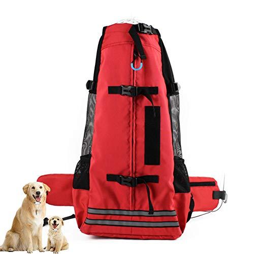 DYYTR Haustier-Reise-Fördermaschinen-Hunderucksack, Wasserdichtes Gewebe-Weiche Seiten-Haustier-Rucksack-Katzen-Kleiner Hundefaltbare Rucksack-Fördermaschinen-Tasche Breathable Ineinander Greifen,L -