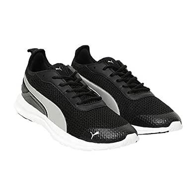 Puma Men's Black Silver Sneakers-6 UK/India (39 EU) (4060978174390)