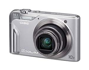 Casio Exilim EX-H15 Digitalkamera (14 Megapixel, 10-fach opt. Zoom, 7,6 cm (3 Zoll) Display, Akku für bis zu 1.000 Fotos, bildstabilisiert) silber